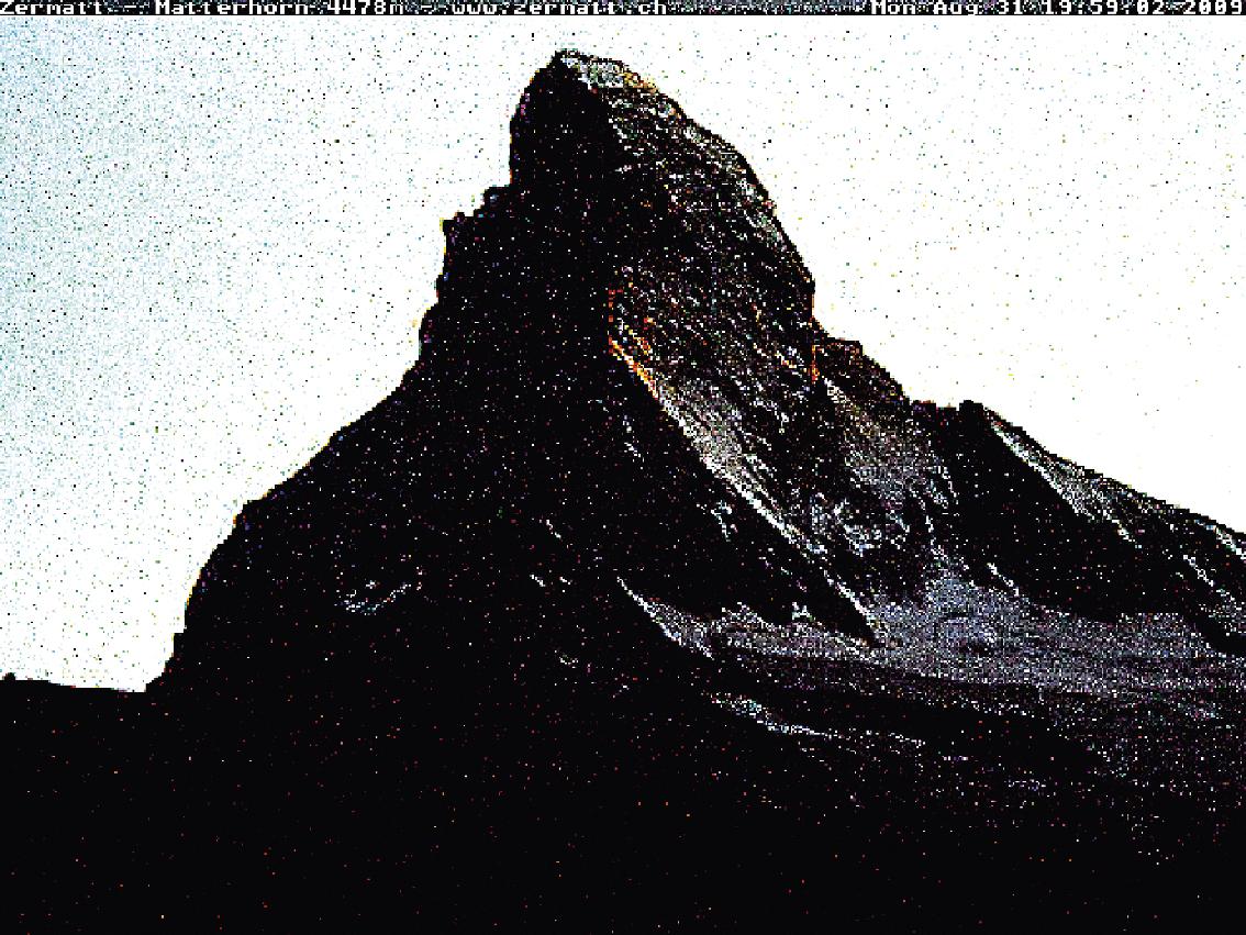 Matterhorn, Cervin, montagne, glaciers, glacier, jacques, Pugin, Zermatt, Automated, Matterhorn,  #0020 Matterhorn 2009 08 31