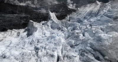 #140 Glaciers offset, 2017, photographie reconstruite à partir de bandes videos, réalisées sur le glacier Gornergletscher