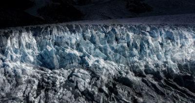 #142 Glaciers offset, 2017, photographie reconstruite à partir de bandes videos, réalisées sur le glacier du Tour