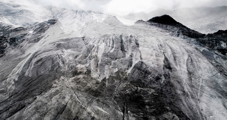 #02 Glaciers offset, 2017, photographie reconstruite à partir de bandes videos, réalisées sur le glacier des Follâts  #02 Glaciers offset, 2017, photographie reconstruite à partir de bandes videos, réalisées sur le glacier des Follâts