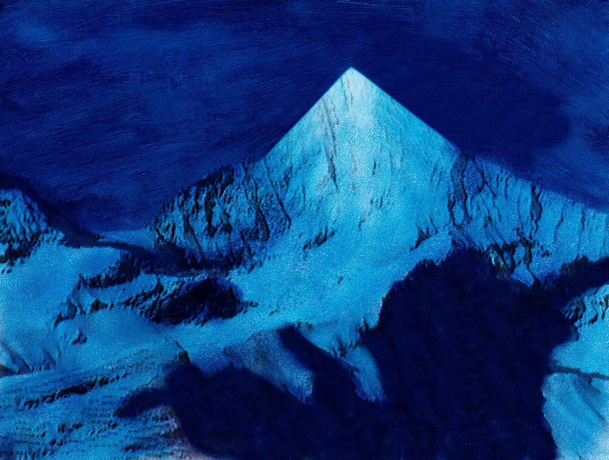 Cette peur bleue, bleu du désert et de la solitude,  cette panique de la nuit.  #61 La montagne bleue, 1995 – 1998, Cette peur bleue, bleu du désert et de la solitude, cette panique de la nuit.
