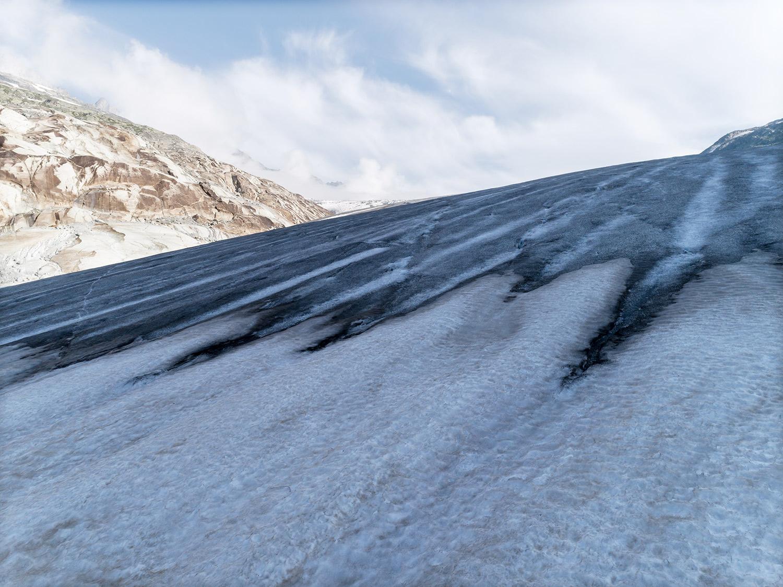 #373 Glaciers, Rhonegletscher, 2018, 46°35'N 8°23'8″E