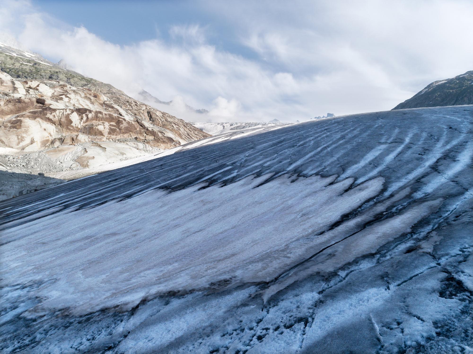 #374 Glaciers, Rhonegletscher, 2018, 46°35'N 8°23'8″E