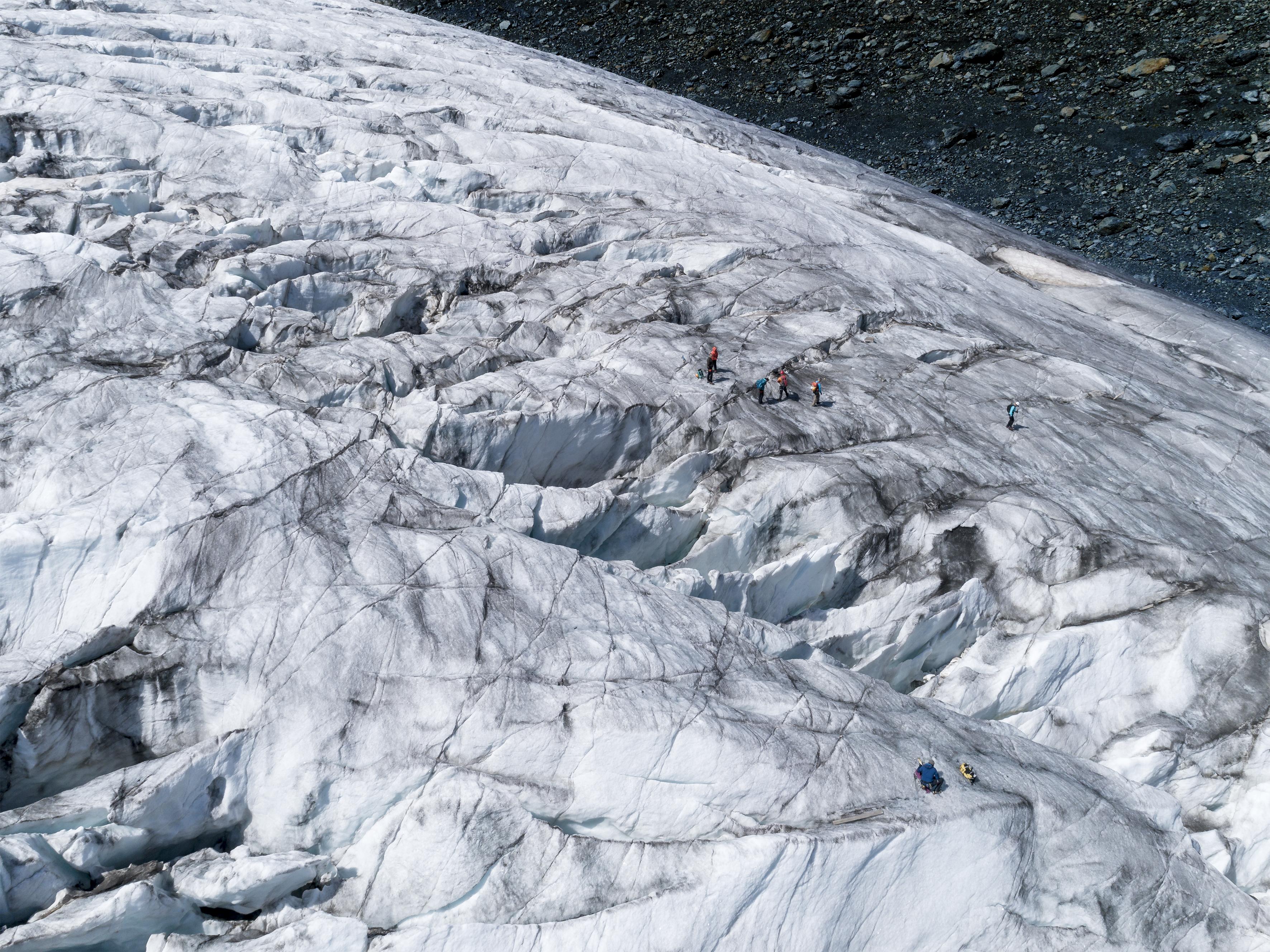 #395 Glaciers,Unterer-Theodulgletscher, 2018, 45°57'45.335″N 7°43'53.322″E