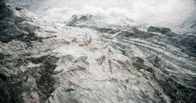 glacier Gornergletscher, Suisse,