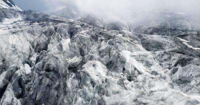 #70 Glaciers offset, 2017, photographie reconstruite à partir de bandes videos, réalisées sur les glaciers du Tour et des Follâts