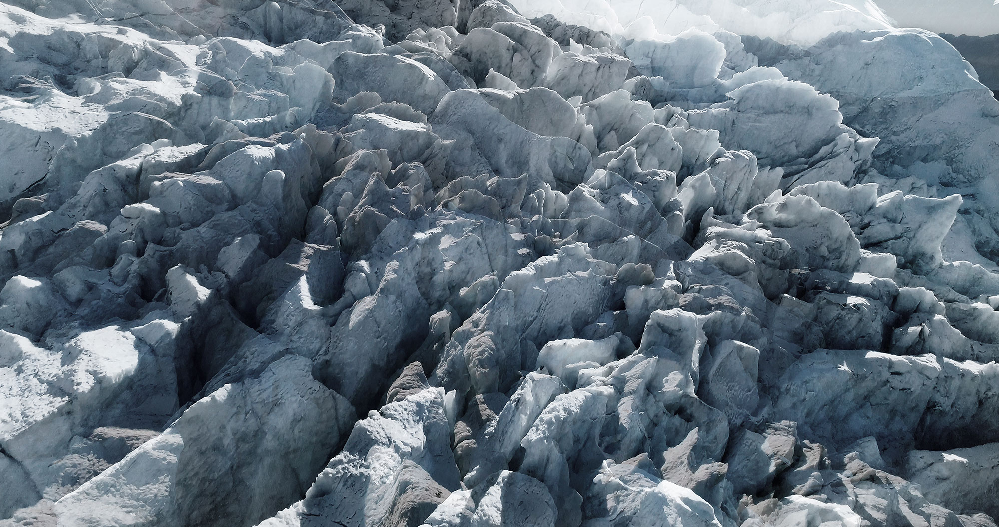 #83 Glaciers offset, 2017, photographie reconstruite à partir de bandes videos, réalisées sur le glaciers des Bossons