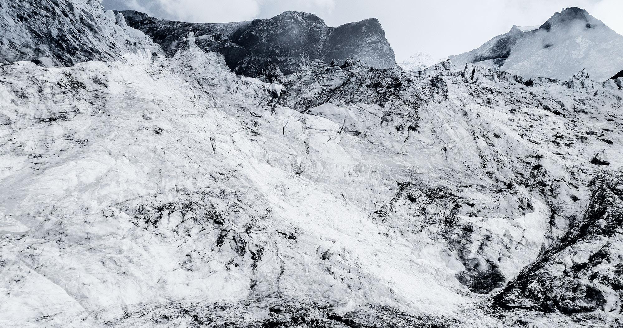 #87 Glaciers offset, 2017, photographie reconstruite à partir de bandes videos, réalisées sur le glacier de Moiry  #87 Glaciers offset, 2017, photographie reconstruite à partir de bandes videos, réalisées sur le glacier de Moiry